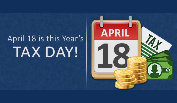 April 18 is this Year's Tax Day-Recovered